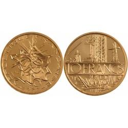 سکه 10 فرانک - نیکل برنج - فرانسه 1977 غیر بانکی
