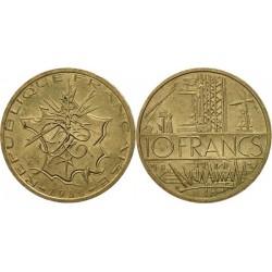 سکه 10 فرانک - نیکل برنج - فرانسه 1980 غیر بانکی