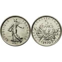 سکه 5 فرانک - نیکل مس روکش نیکل - فرانسه 1970 غیر بانکی