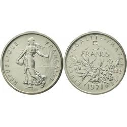 سکه 5 فرانک - نیکل مس روکش نیکل - فرانسه 1971 غیر بانکی