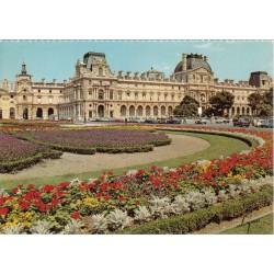 کارت پستال چاپ فرانسه - مناظر پاریس - لوور و باغهای آن