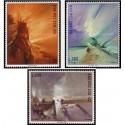 3 عدد تمبر نمایشگاه تمبر سان مارینو - تابلو نقاشی اثر ویولا - سان مارینو 1969