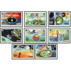 8 عدد تمبر صدمین سال سازمان جهانی هواشناسی - خدایان یونانی - گرانادا 1973