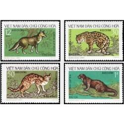 4 عدد تمبر حیوانات وحشی بومی - ویتنام 1973 قیمت 7.56 دلار