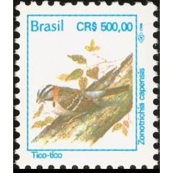 1 عدد تمبر سری پستی - پرندگان - 500 کروز - برزیل 1994