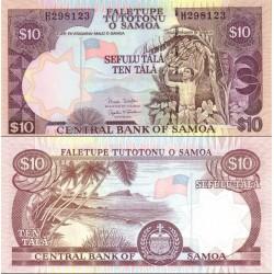 اسکناس 10 تالا - ساموا 2005 عنوان امضا Minister of Finance & Governor