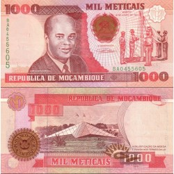 اسکناس 1000 متیکا - موزامبیک 1991