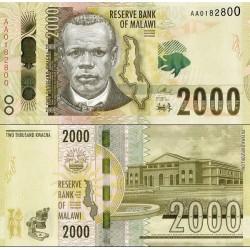 اسکناس 2000 کواچا - مالاوی 2016