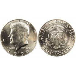 سکه نیم دلاری - نیکل مس - آمریکا 1990 بانکی