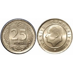 سکه 25 کروز - مس نیکل - ترکیه 2011 بانکی
