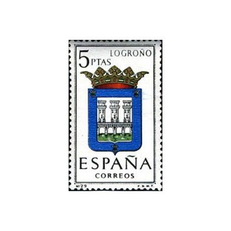 1 عدد تمبر آرم استانها -   Logroño - اسپانیا 1964