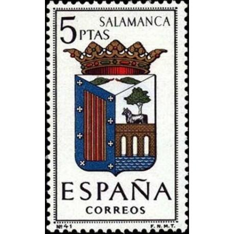 1 عدد تمبر آرم استانها - Salamanca - اسپانیا 1965
