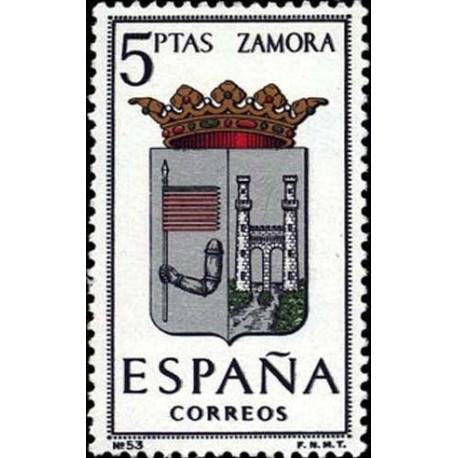 1 عدد تمبر آرم استانها - Zamora - اسپانیا 1966