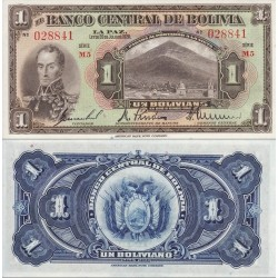 اسکناس 1 بولیویانو - بولیوی 1928