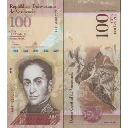اسکناس 100 بولیوار - ونزوئلا 2015 تاریخ 05.11.2015
