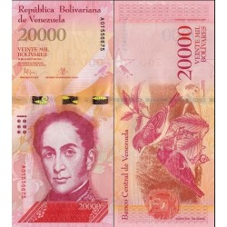 اسکناس 20000 بولیوار - ونزوئلا 2016 تاریخ  18.08.2016