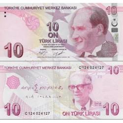 اسکناس 10 لیر - ترکیه 2009