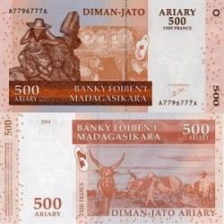 اسکناس 500 آریاری ماداگاسکار 2004 تک