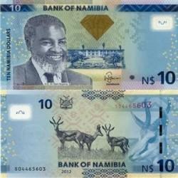 اسکناس 10 دلار نامیبیا 2012 تک