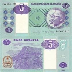 اسکناس 5 کوانزاس - آنگولا 2010 تک