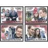 4 عدد تمبر ازدواج سلطنتی - پرنس ویلیام و کاترین میدلتون - بروندی 2011 قیمت 9 دلار