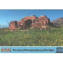 کارت پستال ایرانی - آثار ملی ثبت شده در یونسکو - مجموعه باستانی ساسانی - فارس