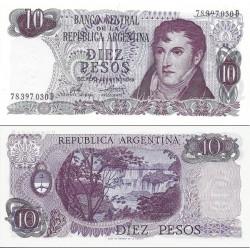 اسکناس 10 پزو - آرژانتین 1976 سری D