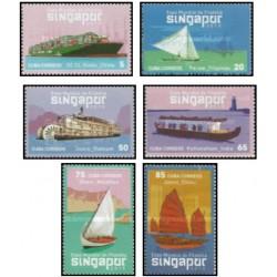 6 عدد تمبر نمایشگاه جهانی تمبر سنگاپور - کشتیها - کوبا 2015