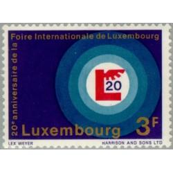 1 عدد تمبر بیستمین سالگرد نمایشگاه لوگزامبورگ - لوگزامبورگ 1968