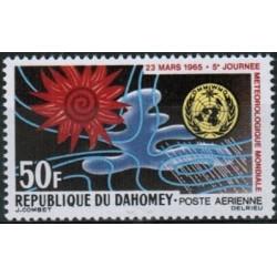 1  عدد تمبر  روز جهانی هواشناسی - پست هوائی - داهومی 1965