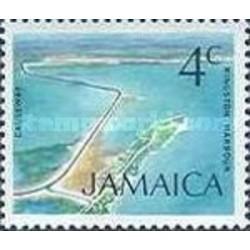 1 عدد تمبر سری پستی زیرساختها - گذرگاه بندر کینگزستون - 4- جامائیکا 1972