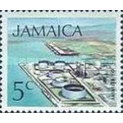 1 عدد تمبر سری پستی زیرساختها - پالایشگاه نفت  - 5- جامائیکا 1972
