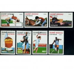7 عدد تمبر المپیک - گینه بیسائو 1988