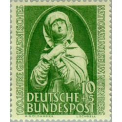 1 عدد تمبر صدمین سالگرد موزه ملی - نورنبرگ - جمهوری فدرال آلمان 1952 قیمت 16.8 دلار