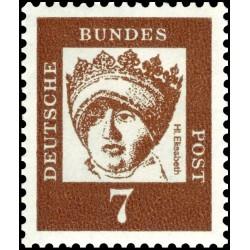1 عدد تمبر از سری پستی مشاهیر - 7 - جمهوری فدرال آلمان 1961