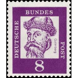 1 عدد تمبر از سری پستی مشاهیر - 8 - جمهوری فدرال آلمان 1961