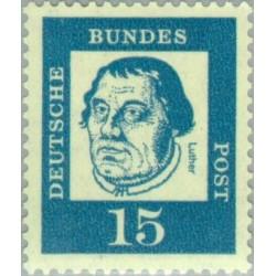 1 عدد تمبر از سری پستی مشاهیر - 15 - جمهوری فدرال آلمان 1961