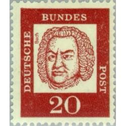 1 عدد تمبر از سری پستی مشاهیر - 20 - جمهوری فدرال آلمان 1961