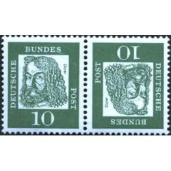 تت بش 2 عدد تمبر از سری پستی مشاهیر -  10 - جمهوری فدرال آلمان 1961