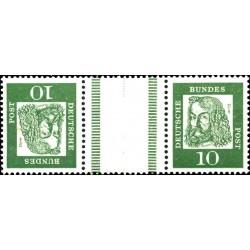 تت بش 2 عدد تمبر از سری پستی مشاهیر با نوار بین -  10 - جمهوری فدرال آلمان 1961