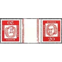 تت بش 2 عدد تمبر از سری پستی مشاهیر با نوار بین -  20 - جمهوری فدرال آلمان 1963
