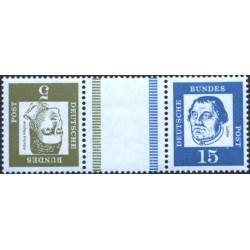 تت بش 2 عدد تمبر مختلف  از سری پستی مشاهیر با نوار بین -  5 و 15 - جمهوری فدرال آلمان 1963