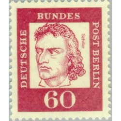 1 عدد تمبر از سری پستی مشاهیر  - 60 - برلین آلمان 1962