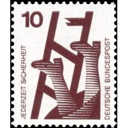 1 عدد تمبر سری پستی پیشگیری از حوادث - 10 فنیک  -جمهوری فدرال  آلمان 1971