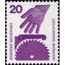 1 عدد تمبر سری پستی پیشگیری از حوادث - 20 فنیک  -جمهوری فدرال  آلمان 1971