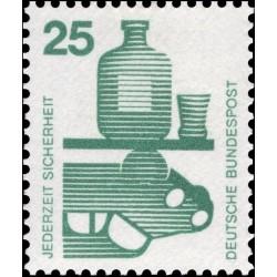 1 عدد تمبر سری پستی پیشگیری از حوادث - 25 فنیک  -جمهوری فدرال  آلمان 1971