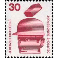 1 عدد تمبر سری پستی پیشگیری از حوادث - 30 فنیک  -جمهوری فدرال  آلمان 1971