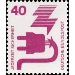 1 عدد تمبر سری پستی پیشگیری از حوادث - 40 فنیک  -جمهوری فدرال  آلمان 1971