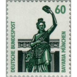 1 عدد تمبر سری پستی مناظر  - 60 فنیک  -جمهوری فدرال  آلمان 1987