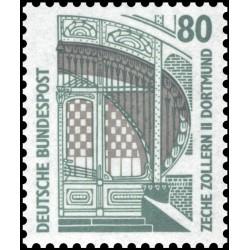 1 عدد تمبر سری پستی مناظر  - 80 فنیک  -جمهوری فدرال  آلمان 1987